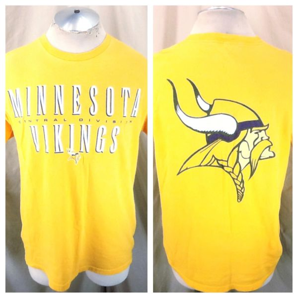 Vintage 90's Starter Minnesota Vikings Football (Med) Retro NFL Graphic Yellow T-Shirt