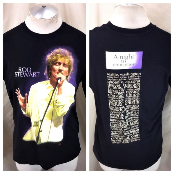"Vintage 1993 Rod Stewart ""A Night To Remember"" (Large) Graphic Concert Band T-Shirt"