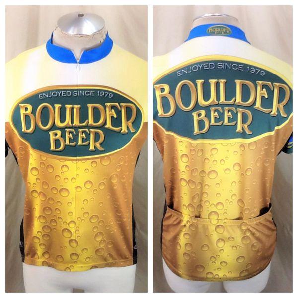 Primal Wear Cycling Team Boulder Beer (Large) Retro 3/4 Zip Up Breweriana Bike Jersey