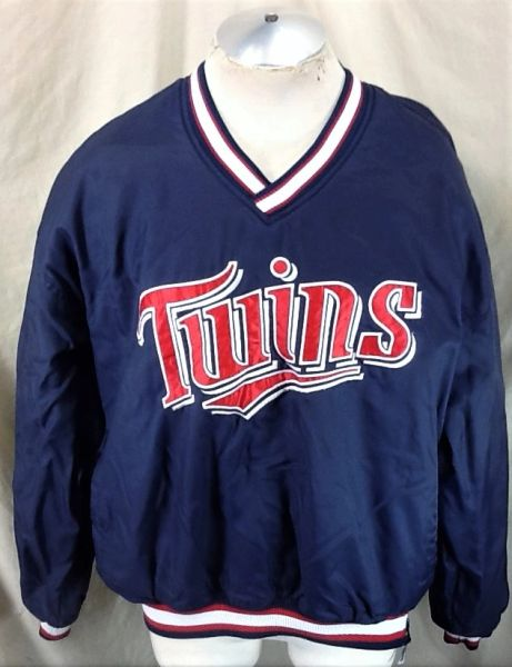 Vintage Starter Minnesota Twins Baseball Club (XL) Retro MLB Classic Logo Windbreaker Jacket