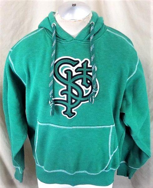 Retro St. Paul Saints Baseball Club (Medium) Pullover Graphic Hooded Sweatshirt Green