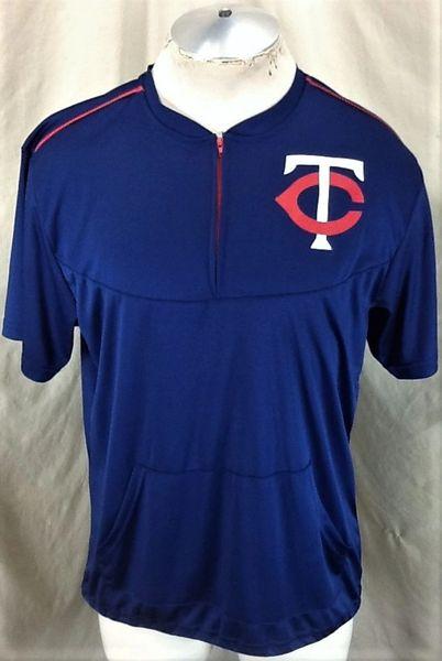 Retro Minnesota Twins Baseball Club (Med) In Stadium Promo Batting Practice Top Navy Blue