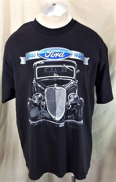 Vintage 94 Ford Model C Classic Automobile (XL) Retro Graphic T-Shirt Black