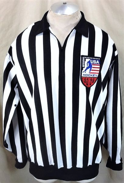 Vintage 1995-96 Team USA Hockey (XL) Retro Pullover Olympic Referee Official Jersey