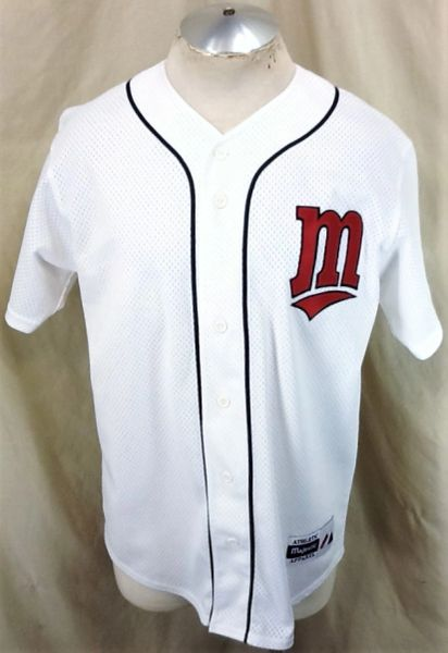 Vintage 90's Majestic Minnesota Twins Baseball (Med) Retro MLB Button Up White Jersey