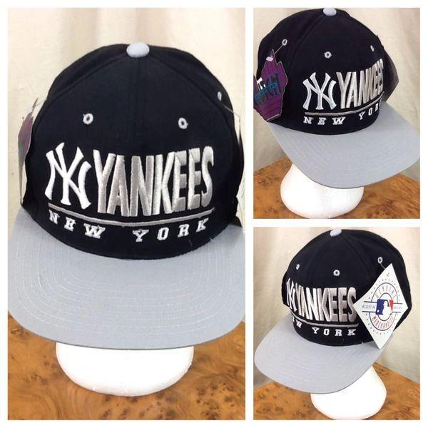 New! Vintage 90's New York Yankees Baseball (Sm/Med) Retro MLB Embroidered Snap Back Hat