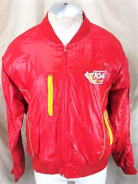 "Vintage 1980's Swingster ""104+ Octane Boost"" (XL) Retro Full Zip Up Racing Jacket Red"