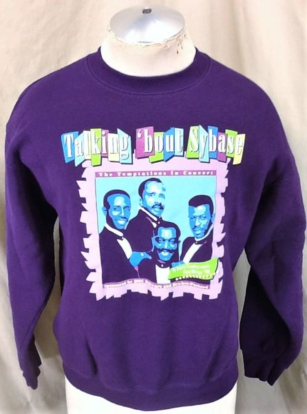"Vintage19 96 The Temptations ""Talking 'Bout Sybase"" (Large) Graphic Crew Neck Sweatshirt"