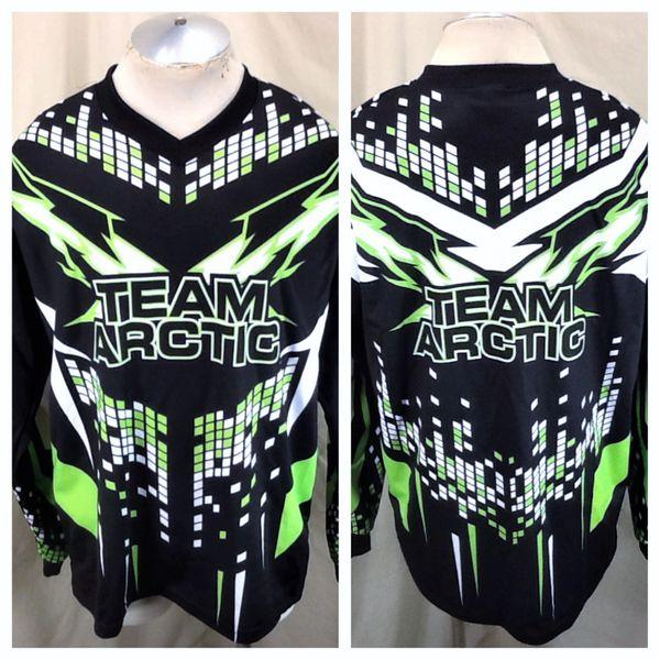 "Retro Arctic Cat Snowmobiles ""Team Arctic"" (Large) Arcticwear Pullover Racing Jersey Black"
