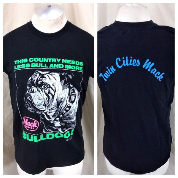 "Vintage 90's Mack Trucks (Medium) ""Less Bull And More Bulldog"" Trucker T-Shirt"
