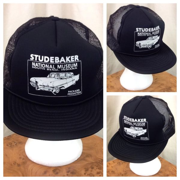 Vintage 80's Studebaker National Museum Retro Gear Heads Snap Back Trucker Hat