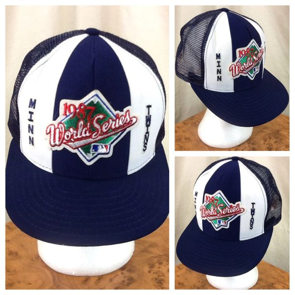 Vintage 1987 Minnesota Twins World Series Retro MLB Baseball Snap Back Trucker Hat