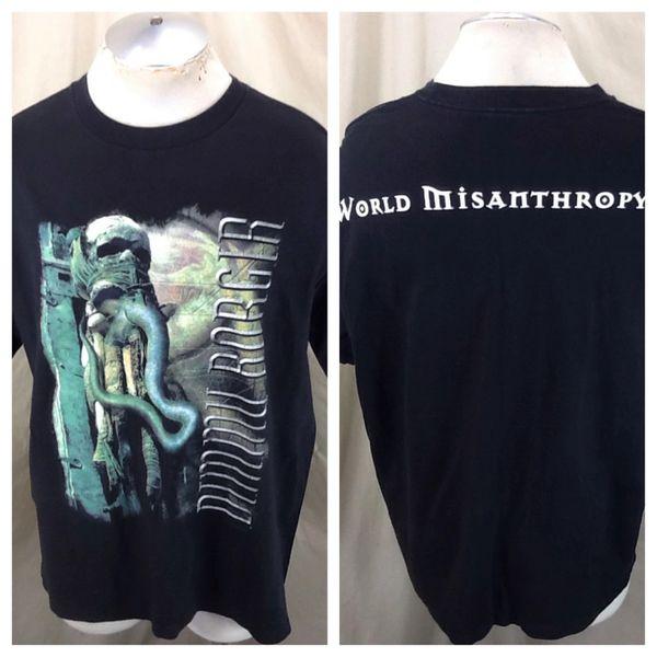 "Vintage 2001 Dummu Borgir ""World Misanthropy"" (XL) Retro Black Metal Band T-Shirt"