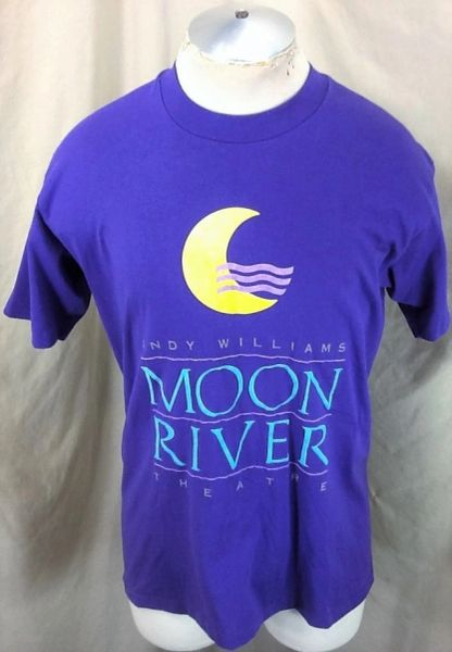 """Vintage 90's Andy Williams """"Moon River Theatre"""" (Large) Retro Graphic Music Icon Shirt"""
