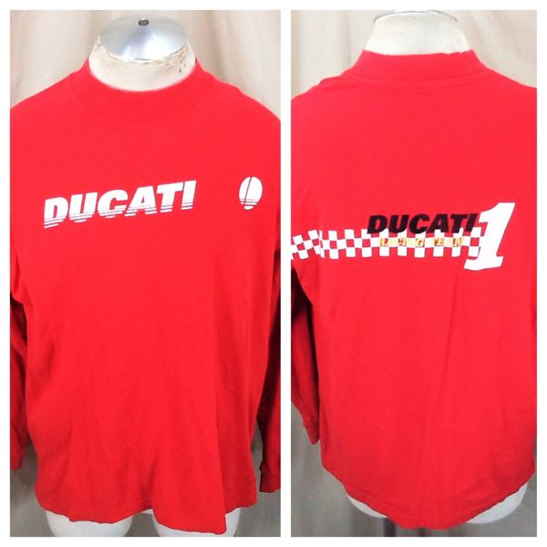Vintage 00's Ducati Racing Team #1 (L/XL) Retro Gear Heads Long Sleeve Shirt