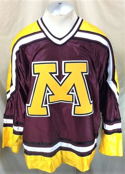 Vintage Koronis Minnesota Golden Gophers (Large) Retro NCAA Stitched Hockey Jersey