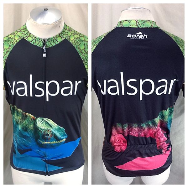 "Valspar Paints ""Change For The Better"" (Large) Retro Full Zip Up Graphic Cycling Jersey"