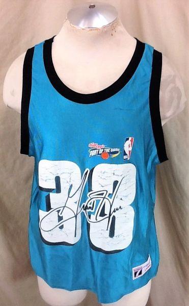Vintage 90's Logo 7 Grant Hill #33 (Large-Short Length) Retro NBA Basketball Kellogg's Promo Jersey