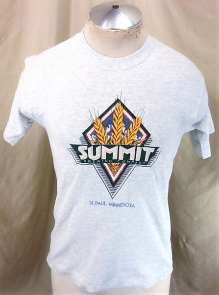 Vintage 90's Summit Brewing Company (Small) Retro Graphic Single Stitch T-Shirt