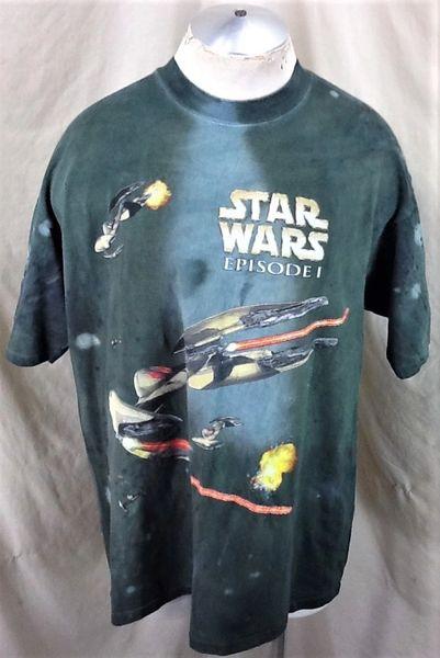 Vintage Lucasfilms Star Wars Episode I (XL) Phantom Menace Battle Scene Tie-Dye Shirt