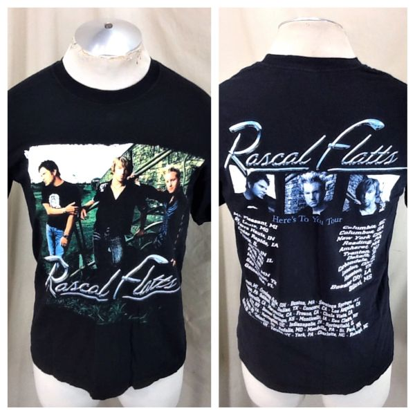"Vintage Rascal Flatts ""Here's To You Tour"" (Medium) Country Music Concert T-Shirt"
