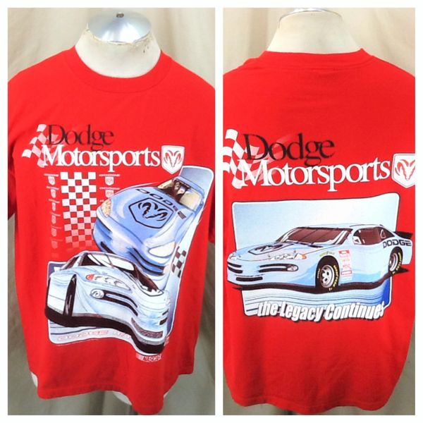 "Vintage 90's Dodge Motorsports (XL) ""The Legacy Continues"" Dodge R/T Graphic Shirt"