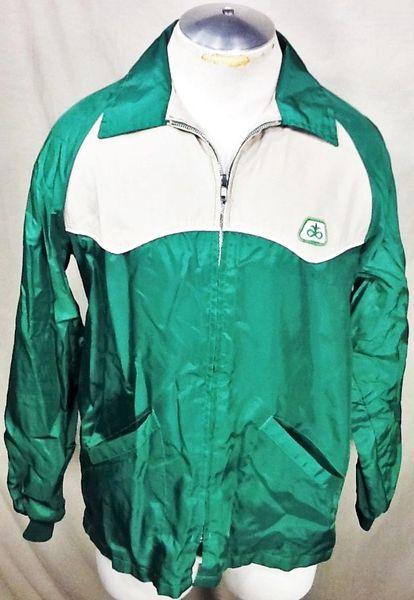 Vintage Swingster Pioneer Seed Company (Medium) Retro Zip Up Light Weight Long Sleeve Jacket