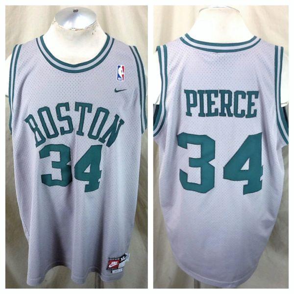 Vintage Nike Boston Celtics Paul Pierce #34 (XL) Retro NBA Stitched Alternative Basketball Jersey