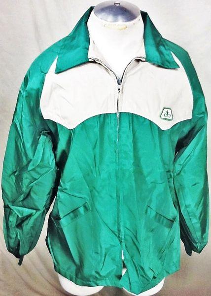 Vintage Swingster Pioneer Seed CompanyFarming (Large) Retro Zip Up Light Weight Long Sleeve Jacket