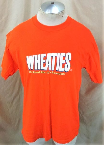 "Vintage 90's Wheaties ""Breakfast of Champions"" (Large) Graphic Iconic Cereal T-Shirt"