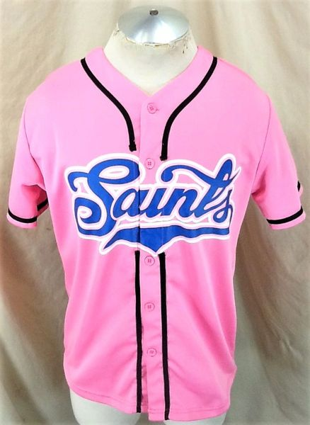 Vintage St. Paul Saints Baseball Team (Med) Retro Northern League Give-A-Way Hot Pink Jersey