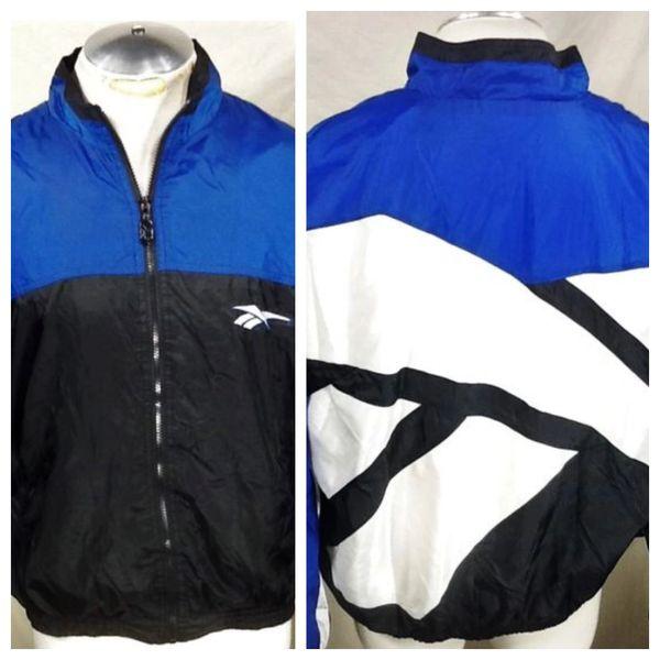 Vintage 90's Reebok Thermal Lining Full Zip (XL) Retro Athletic Windbreaker Jacket