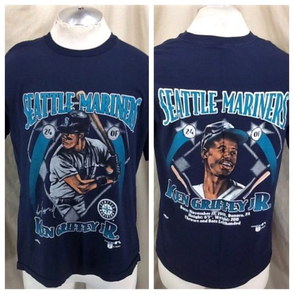 the latest 11746 3c0b4 Vintage 90's Nutmeg Ken Griffey Jr. #24 (Large) Retro Seattle Mariners MLB  Graphic T-Shirt