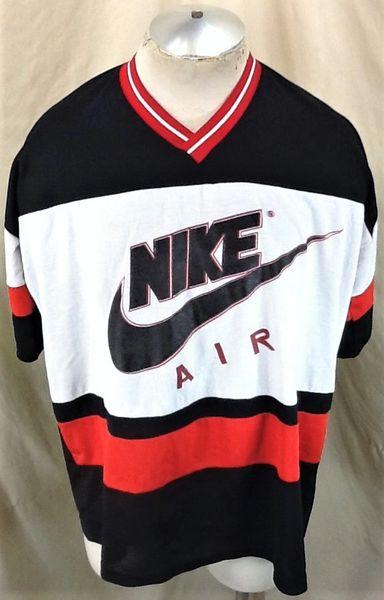 Vintage 90's Nike Air Red Tag (XL/2XL) Retro Basketball Nylon Shooting Shirt