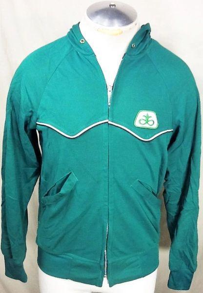 Vintage Swingster Pioneer Seed Company Farming (Medium) Retro Zip Up Hooded Long Sleeve Sweatshirt