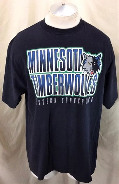 Vintage Starter Minnesota Timberwolves (Large) Retro Wolves NBA Basketball T-Shirt