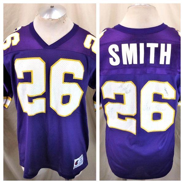 Vintage 90's Champion Robert Smith #26 (44/Large) Retro Minnesota Vikings NFL Football Jersey