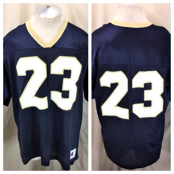 Vintage Champion Notre Dame Fighting Irish #23 (48/XL) Retro NCAA Graphic Football Jersey