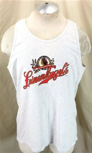 Vintage Lienenkugel's Craft Beer (Large) Retro Breweriana Graphic Gray Tank Top
