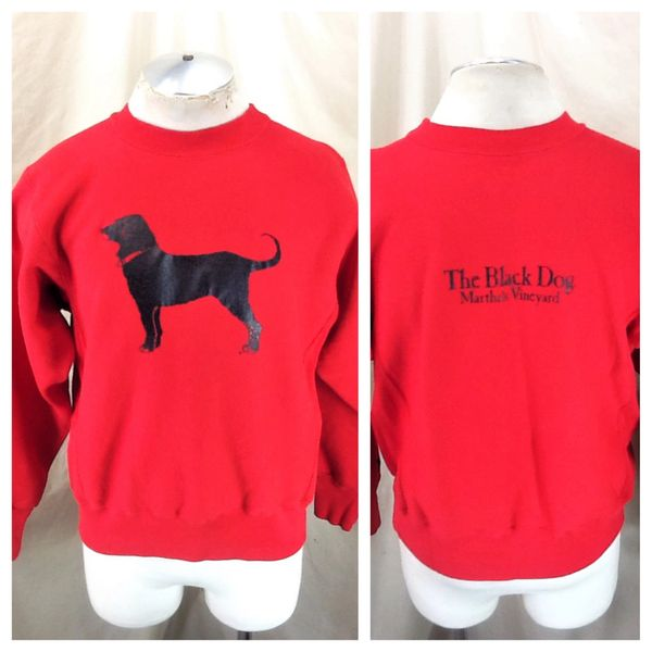 "Vintage 90's Martha's Vineyard ""The Black Dog"" (Small) Retro Graphic Crew Neck Sweatshirt"