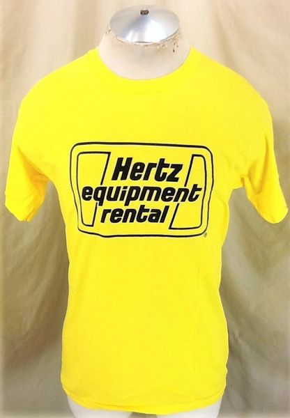 Vintage 80's Hertz Equipment Rental (Med) Retro Graphic Single Stitch T-Shirt