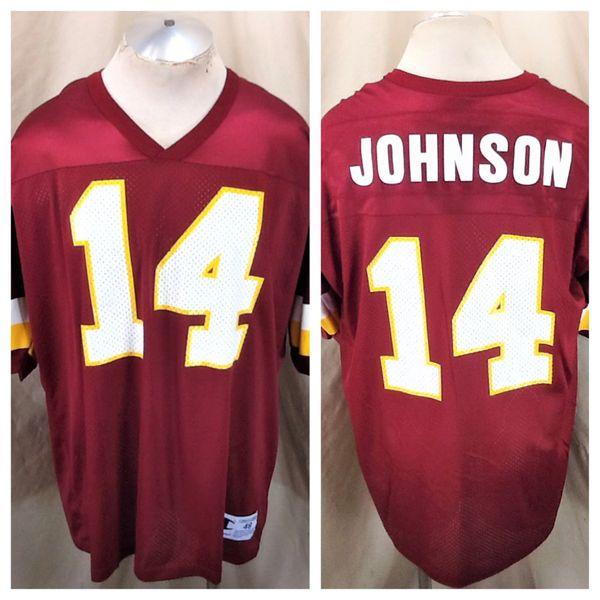 Vintage 90's Champion Washington Redskins (48/XL) Brad Johnson #14 Retro NFL Football Jersey