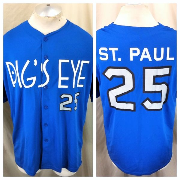 "St. Paul Saints Baseball ""Pig's Eye"" #25 (XL) Retro Northern League Promotional Graphic Jersey"