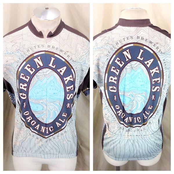 "Deschutes Brewery ""Green Lake Organic Ale"" (XL) Retro World Jerseys 3/4 Zip Cycling Jersey"
