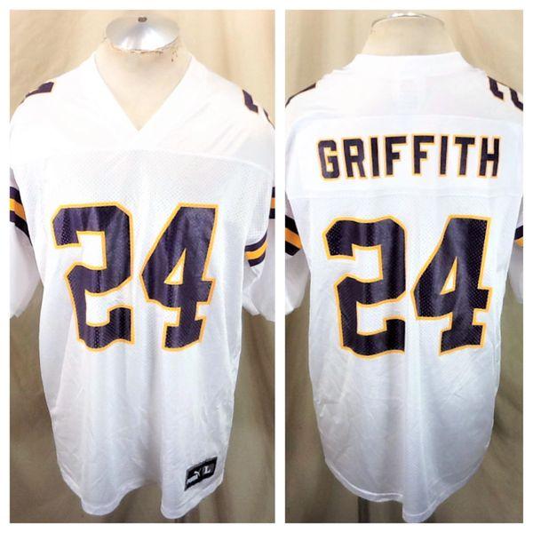 Vintage 90's Puma Minnesota Vikings Robert Griffith #24 (Large) Retro NFL Football White Jersey