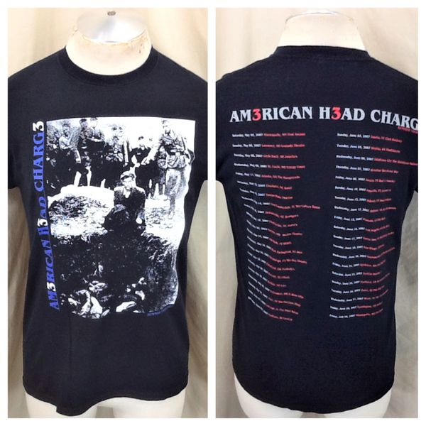 "2007 American Head Charge ""Summer Tour"" (Med) Retro Industrial Metal Band T-Shirt"