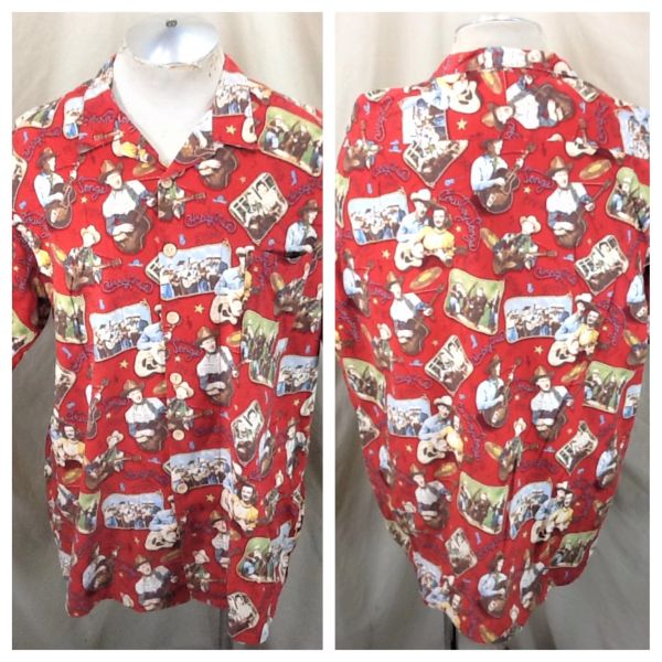 "Lake Matley Roy Rogers ""Happy Trails"" (XL/2XL) Retro Country Cowboy Songs Button Up Shirt"