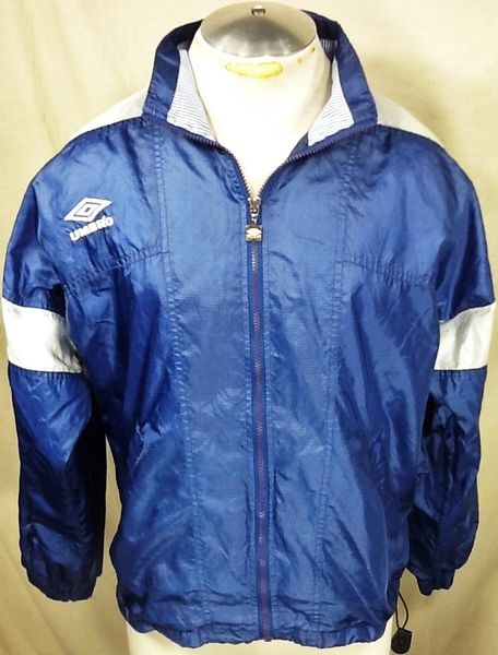 Vintage 90's Umbro Soccer Full Zip Up (Small) Retro Futbol Athletic Wear Windbreaker Jacket