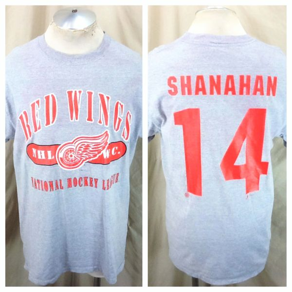 Vintage 90's Detroit Red Wings Brendan Shanahan #14 (Large) Retro NHL Hockey T-Shirt