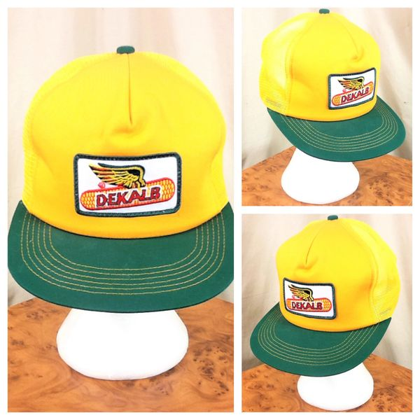 Vintage 80's K-Products Dekalb Seed Company Retro Farming Snap Back Trucker Hat